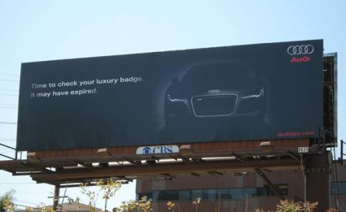 Audi - time to change your luxury badge