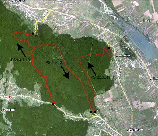 Harta Raliul Moldovei Bacau - Probe speciale Margineni, Hemeius
