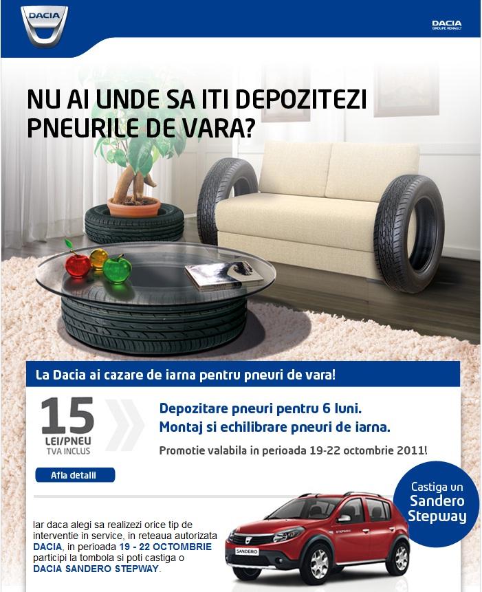 Marketing Dacia - Depozitul de pneuri