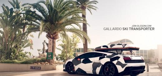 Lamborghini Gallardo pentru schiori