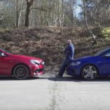 vw golf r vs mercedes a45 amg