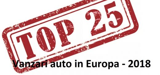 top 25 vanzari auto in europa 2018